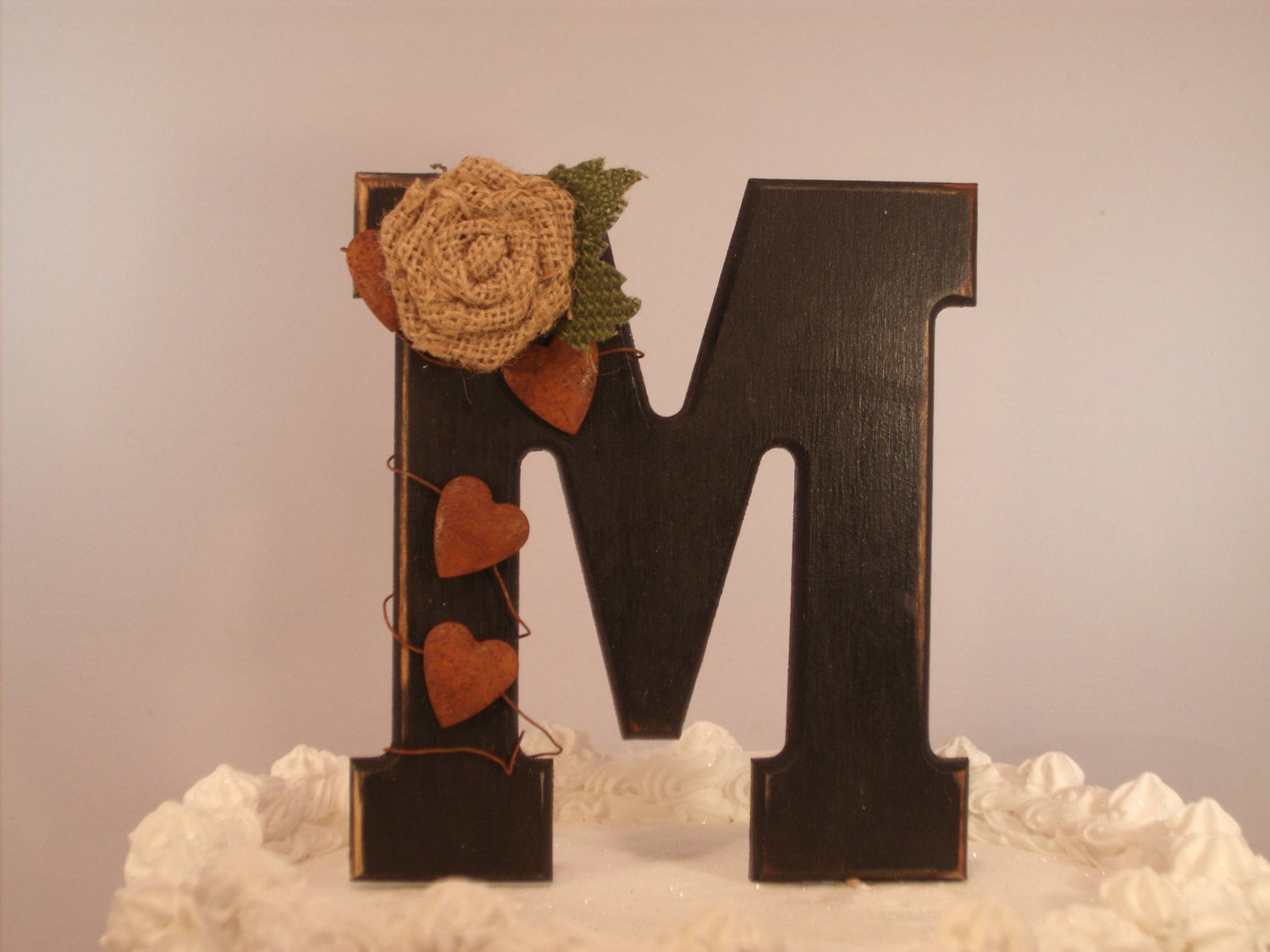 Original Rustic Custom Cake Topper by IttyBittyWoodShoppe