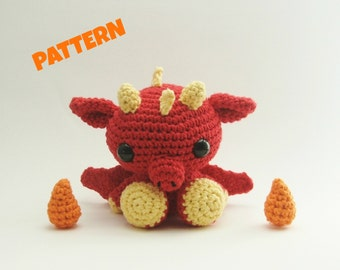 Crochet Dragon Pattern / Crochet Amigurumi Pattern / Crochet Animal Pattern / Crochet Toy Pattern / Dragon Pattern / Kids Pattern / Baby Toy