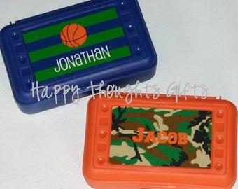 Boys School Box - Personalized Pencil Crayon Box / Art Supply Case - Back to School - Camo School Supplies