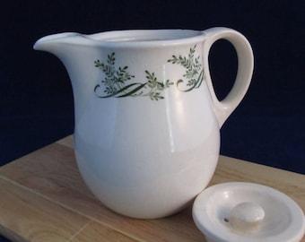 IronStone  Creamer---1800s Vintage Mason's Ironstone Creamer--Mini Ironstone Teapot--English Ironstone
