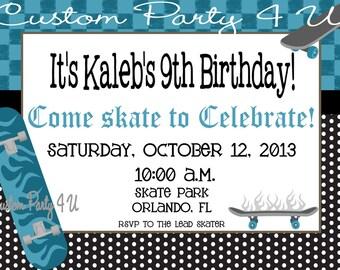 Skateboard Invites