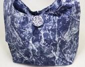 Denim Hobo Slouch Bag with Glitter