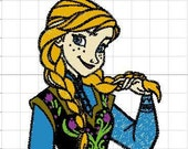 Disney Frozen,Princess Anna, Elsa, Olaf Winnie the Pooh Frozen sisters machine embroidery patch