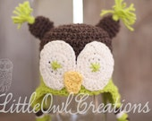 Owl Beanie Crochet Multiple Sizes Newborn up to 4T You Pick the Colors MADE TO ORDER