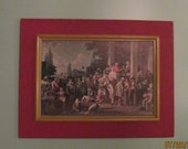 Vintage Political Print Framed / George Caleb Bingham The Country Election / Office