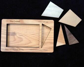 Cruiser - 4 pc wood brain teaser puzzle design by Stewart Coffin