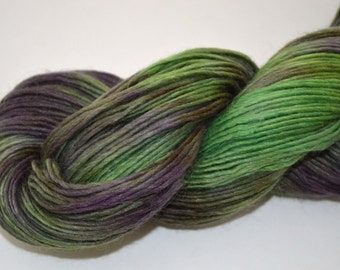 ON SALE !!   Hand Dyed DK Weight Singles Roving Yarn Alpaca Merino Silk