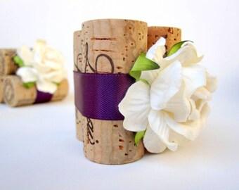 Plum Wedding Place Card Holder, Fall Wedding Decor, Fall Wedding Ideas, Fall Wedding Place Card Holders, Wine Wedding Decor, Purple Wedding