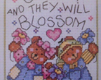 Counted Cross Stitch Kit Children Blossom Xpressions by Bucilla