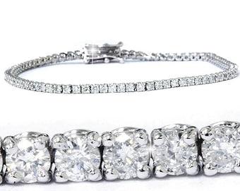 "Diamond Tennis Bracelet 2.00CT Diamond Tennis Bracelet 14K White Gold 7"""