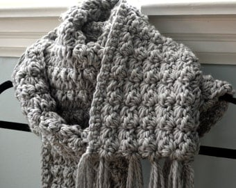 CROCHET PATTERN PDF - Cosy Crochet Textured Scarf -- Free Shipping - Instant Download