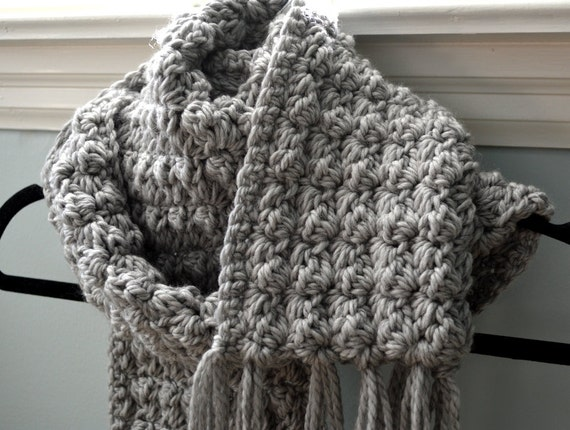 Free Crochet Scarf Patterns To Download : CROCHET PATTERN PDF Cosy Crochet Textured Scarf Free