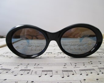 black UVEX sunglasses- blue mirror, glasses, 1970s, made in Germany
