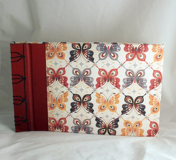 Butterfly Japanese Stab Binding Book With By OptimisticEssence