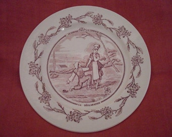 """French """"Mariage"""" Plates"""