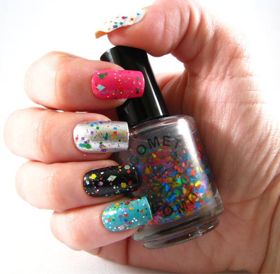 Protoplanetary Disco Nail Polish by Comet Vomit