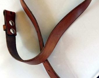 Vintage Leather Belt Thick Handmade No Tooling