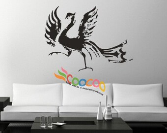 Wall Decal Sticker Removable DC0112  Phoenix Bird