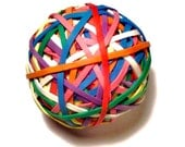 """Office Rubber Band Ball - Rainbow Colored - 2.5 inches, 2 1/2"""" - Office Supplies, Work Desk, Craft Supplies"""