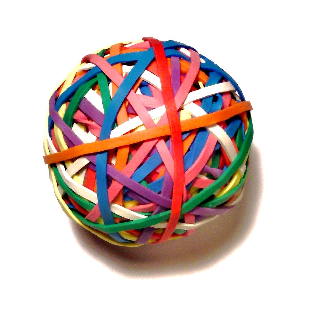 Office Rubber Band Ball Rainbow Colored 2.5 inches 2