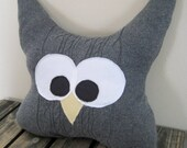 Abbott the Rag Tag Owl - Large Upcycled Sweater