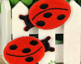 Iron on Fabric Patches - Ladybug - Set of 2 - FP60