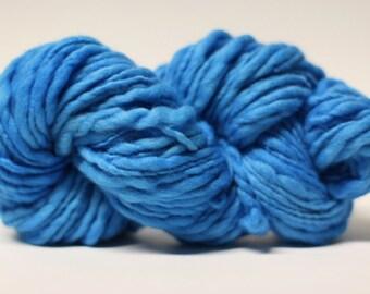 Thick and Thin Merino Yarn Slub Hand Dyed TTS(tm) 44tts13037 Mykonos Blue