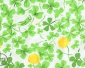 Half Yard Briar Rose Cricket Clover in Green, Heather Ross, Windham Fabrics, 100% Cotton Fabric, 37026-7