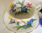 Reserved for Ruth. Vintage Iris Tea Cup and Saucer