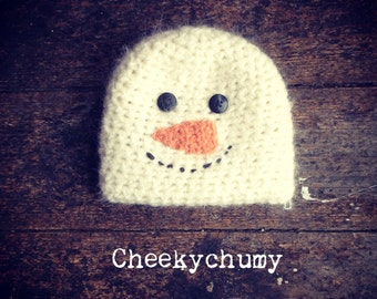 SALE. Christmas snowman hat. Newborn. Christmas. Great photo photography prop. SALE