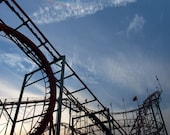 Seaside roller coaster- New Jersey Photography- jersey shore- roller coaster