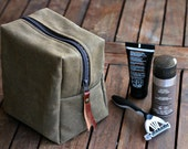Waxed canvas dopp kit - waxed dopp kit - toiletry bag - canvas bag - groomsmen gift - Christmas gift - mens bag - cosmetic bag