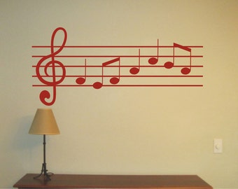 Music Wall Sticker, Vinyl Decal, Wall Tattoo