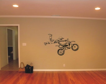 LARGE Motocross Vinyl Decal, Wall Sticker, Wall Tattoo