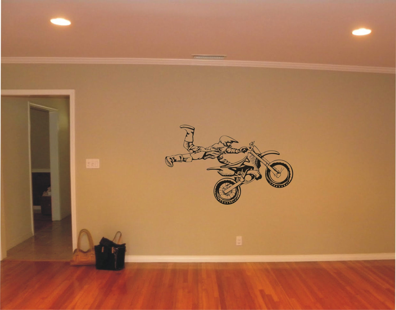 large motocross vinyl decal wall sticker wall tattoo zoom