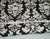 Michael Miller Dandy Damask Fabric in Brown