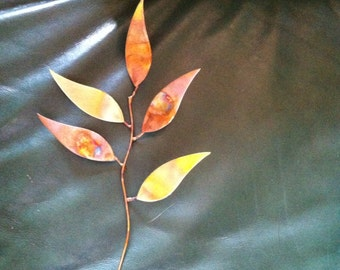 Leaves made from Copper and Brass