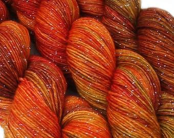 DESTINATIONS glitter sock yarn VANCOUVER hand dyed sw merino nylon stellina 3.5oz 435 yards