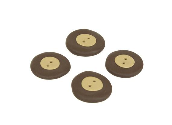 Buckeye Sewing Buttons- Handmade Ohio Buckeye Buttons
