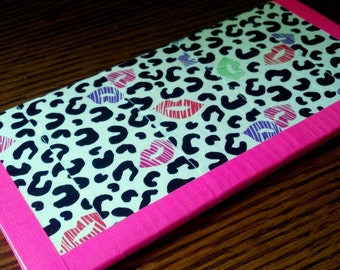 SALE: Leopard Kiss Duct Tape Wallet