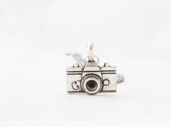 Silver Camera Necklace. Antique Silver Camera. Silver Necklace Camera Pendant. Photographer's Necklace. Silver Camera