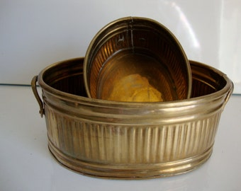 Two Brass Baskets