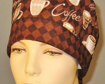 Scrub Hat-brown caffe