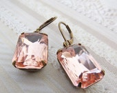 Blush Pink Earrings Blush Bridal Earrings Estate Style Vintage Earrings Wedding Jewelry ~ Bridesmaid Gift
