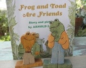 FROG and TOAD Wooden Toy and BOOK Set  Story Book Series