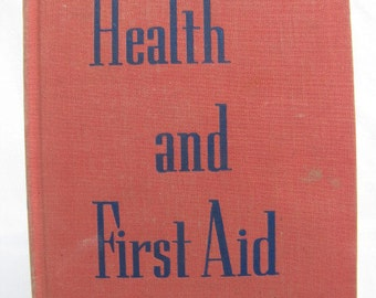 Vintage 1944 Health and First Aid Book Redwood School of the Precious Blood MN Teens