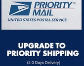 Priority Mail Shipping Upgrade- Domestic Mail Only