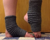 Yoga Socks in Acrylic Wool Blend in Oxford Gray -- for Yoga, Dance, Pilates, Pedicures