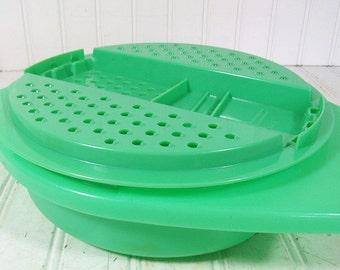 Vintage TupperWare Grater & Bowl Set - Retro Plastic 2 Pieces - TupperSeals Original Set