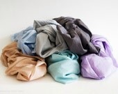 For Chelsea - CHOOSE YOUR SET - 2 cotton scarves. Hand dyed cotton scarf. Oversized, lightweight wrap, shawl. Fashion, women accessories